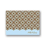 Exquisite Pattern -- Blue Thank You Card