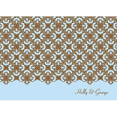 Exquisite Pattern Blue Thank You Card