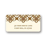 Exquisite Pattern -- Ecru Address Label