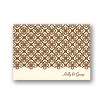 Exquisite Pattern -- Ecru Thank You Card