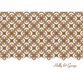 Exquisite Pattern -- White Thank You Card