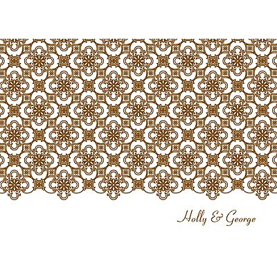 Exquisite Pattern White Thank You Card