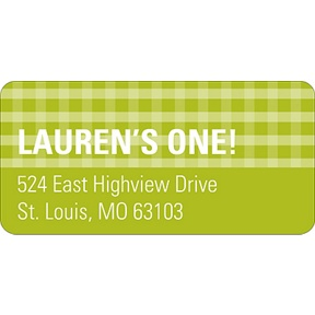 Gingham -- Address Label