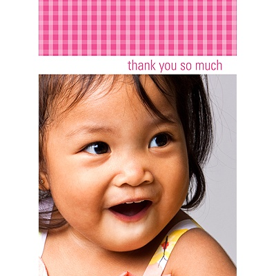 Gingham -- Thank You Card