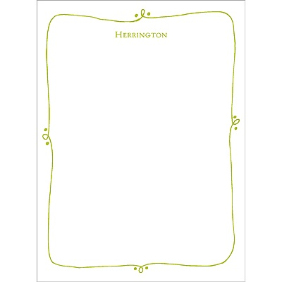 Framed with Love --  Baby Stationery