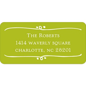 Framed with Love -- Baby Address Labels