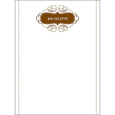 Named in Love -- Personalized Stationery