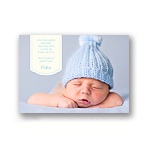 Bundle of Blue -- Classic Birth Announcement