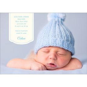Bundle of Blue -- Birth Announcements