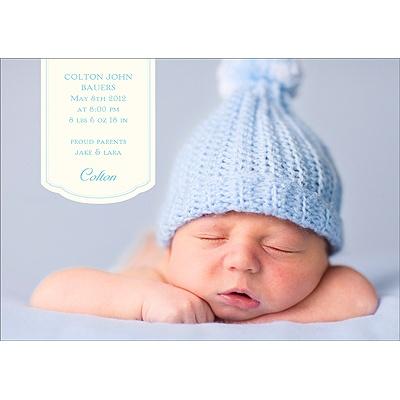 Bundle of Blue Birth Announcements