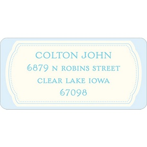 Bundle of Blue -- Baby Address Labels