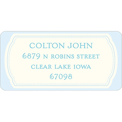 Bundle of Blue Baby Address Labels