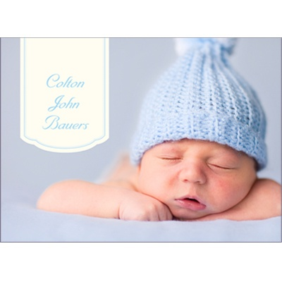 Bundle Of Blue Baby Thank You Cards