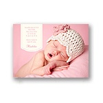 Pretty in Pink -- Stylish Birth Announcement