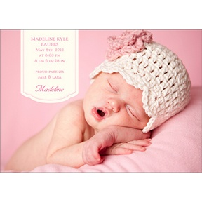 Pretty in Pink -- Birth Announcements