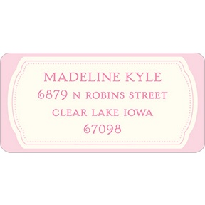 Pretty in Pink -- Baby Address Labels