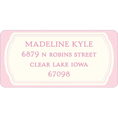 Pretty in Pink Baby Address Labels