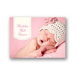 Pretty in Pink -- Baby Thank You Card