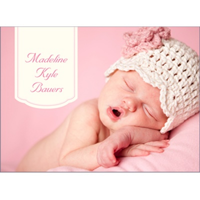 Pretty In Pink Baby Thank You Cards