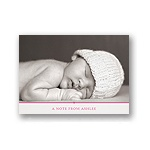 Classic Details in Pink -- Baby Thank You Card