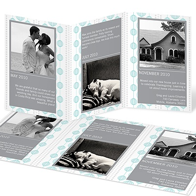 Chic Circles Trifold Moving Announcements
