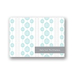 Chic Circles -- Blue Thank You Card