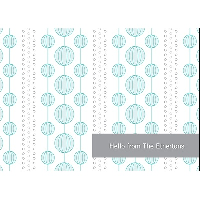 Chic Circles Blue Thank You Card