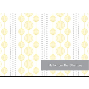 Chic Circles -- Yellow Thank You Card