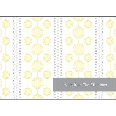 Chic Circles Yellow Thank You Card