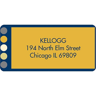 Light Up Address Label