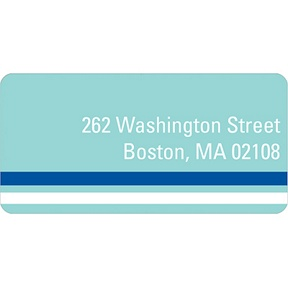 Down the Block -- Blue Address Label