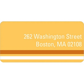 Down the Block -- Orange Address Label