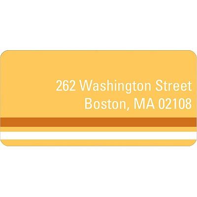 Down the Block Orange Address Label