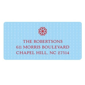 Simple Snowflake -- Christmas Address Labels