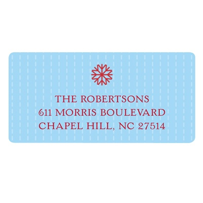 Simple Snowflake Christmas Address Labels