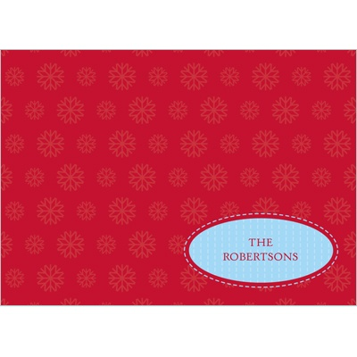 Simple Snowflake -- Christmas Thank You Card