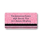 Floral Array -- Pink Address Label