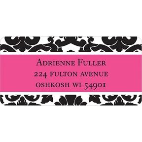 Black Pattern -- Address Label