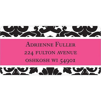 Black Pattern Address Label