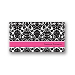Black Pattern -- Personalized Note Card
