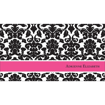 Black Pattern Personalized Note Card