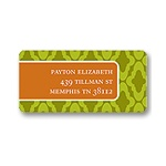 Moss Diamond Stamp -- Address Label