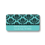 Damask Vision -- Boy Modern  Address Label