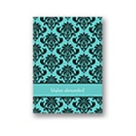 Damask Vision -- Baby Boy Thank You Card