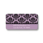 Damask Vision -- Girl Modern Address Label