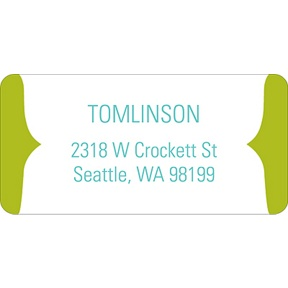 Joyful News in Green -- Baby Address Labels