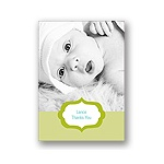 Joyful News in Green -- Baby Thank You Card