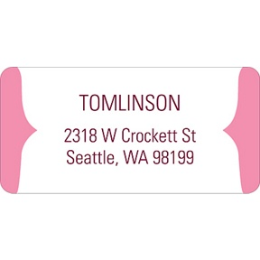 Joyful News in Pink -- Baby Address Labels