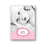 Joyful News in Pink -- Baby Thank You Card