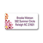 Watercolor Flowers -- Orange Address Label